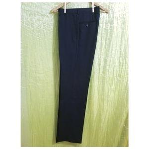 NWOT Pronto Uomo Navy Flat Front Wool Dress Pants